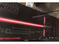 Wanted kylo ren force fx light saber and other sabers