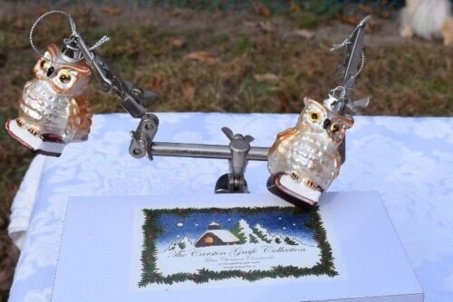 German Christmas Ornament Carsten Grafe Collection - Owl Duo