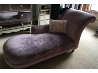 Gorgeous Laura Ashley Hereford Chaise Longue in Amethyst Velvet. RRP £950.