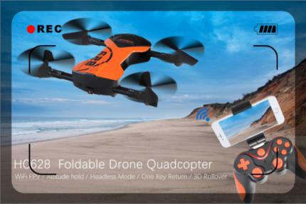 Mini WiFi Foldable Drone Quadcopter HC628 FPV 0.3MP Camera
