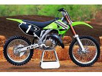 Kawasaki kx 125cc motor cross bike
