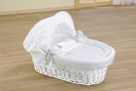 Leipold Moses Basket (Grey and White)