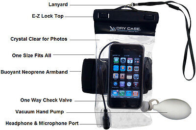 Dry Case Waterproof to 100 feet ! Waterproofs IPhones, Phones Cameras & MP3's  for sale  Shipping to India