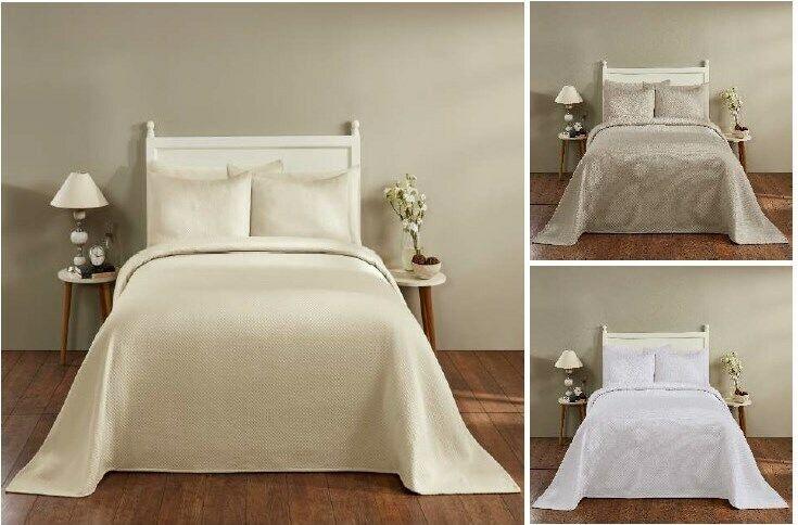 sophia cotton blend matelasse weave bedspreads or