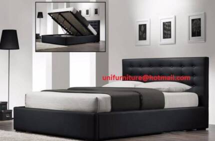 Brand New Grand Gas lift Queen Heavy Duty Pu Leather Bed/ Storage