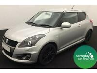 £172.89 PER MONTH SILVER 2013 SUZUKI SWIFT 1.6 SPORT 3 DOOR PETROL MANUAL
