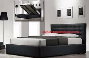 Brand New Grand Gas lift Q  Pu Leather Bed/ Storage+ 2x Bedside T Seven Hills Blacktown Area Preview
