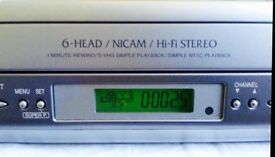 Sharp video recorder with original remote & Scart cable