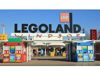 4 x LEGOLAND WINDSOR TICKETS ANY DATE