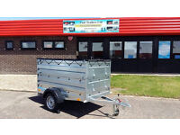 NEW CAR CAMPING BOX TRAILER/ DOUBLE EXTRA SIDES 6.8ft x 3.8ft - 750 kg
