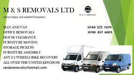 24/7 Man & Van hire delivery & collection, house/office/flat removals clearance shifting & mover