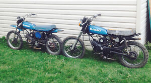 2 Suzuki TS70 Project & Parts plus TS50 motor