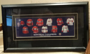 Montreal Canadiens hockey jersey water color framed print