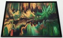 Abstract Wall Art - Hand painted Original, Framed Art on Glass. Gaven Gold Coast City Preview