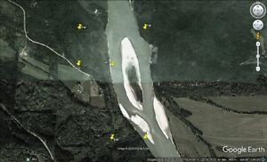 Fraser River placer gold claim