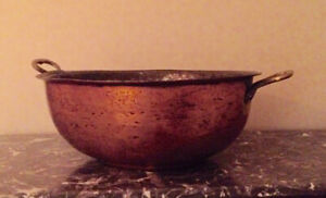 Moving Sale! Vintage X-Large Copper Bowl with Brass Handles