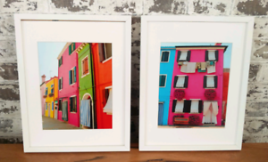 Original Framed Photo Prints of Burano Italy For Sale