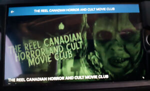 Horror movies and merchandise for sale