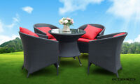 Gorgeous Patio Dining Wicker Set - MUST SEE!!!!