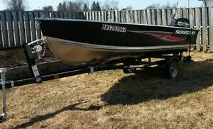 2016 - 14 ' - Deep Hull Boat Motor Trailer Package -