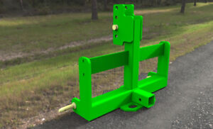 Black or Green  3PT Hitch Weight Bar With Hitch Receiver - Cat 1