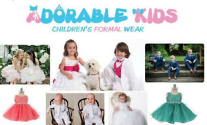 Boy suit, Flower Girl Dress Party Wear, Baptism Christening Gown