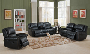 Marco leather reclining set, ALL 3 PIECES INCLUDED, Amax Leather