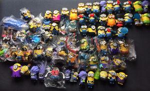 67 McDonald's Minion happy meal toys, full 2017 set, 2013+2015