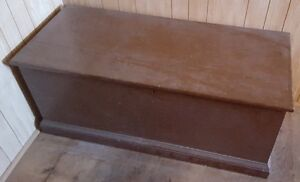 Antique Handmade Wooden Solid Pine Blanket Box Chest w/ Lock