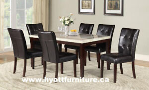 Brand new 7pcs Marble finished Dinette $798 - We deliver in GTA