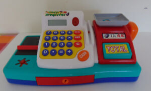 Pretend Play Electronic Cash Register Toy with Actions & Sound