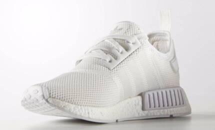 Adidas NMD Runner R1 Lifestyle Shoe Triple White – US 10/ UK 9.5