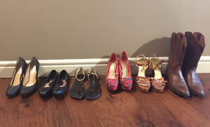 Size 9.5 Brand Name Pumps, Sandals, Flats, and Boots