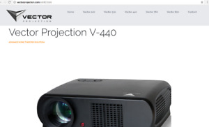 Vector V440 Projector Set 3D Full HDMI 1920x1080 4K + Screen