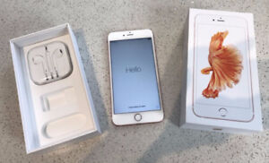 Gold Iphone 6+ -- less than a year old - Mint condition