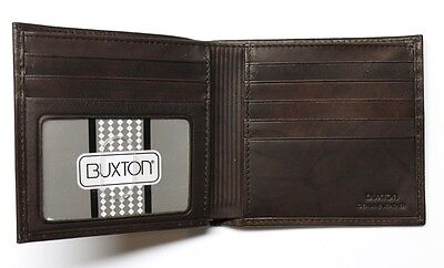 - Buxton Cardex Hipster Credit Card Wallet - Brown Leather - New in Box