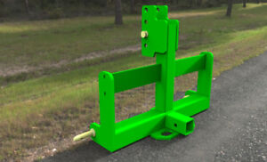 3PT Hitch Weight Bar With Hitch Receiver, Cat 1 (Black or Green)
