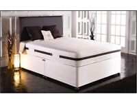 LUXURY 2000 POCKET SPRUNG BED *** DOUBLE DIVAN BED BASE WITH MATTRESS BRAND NEW