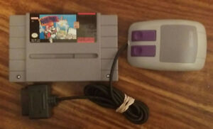 Super Nintendo (SNES) Mario Paint game with MouseIn working ord
