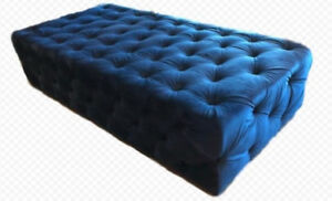 GIANT Royal Blue ottoman for rent or sale!