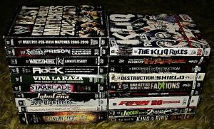 Wrestling DVD's 40 available ROH TNA WCW WWE includes disc sets Prince George British Columbia image 5