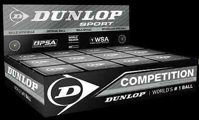 Dunlop Competition Squash Ball - 3 Balls Included (Single Yellow Dot)
