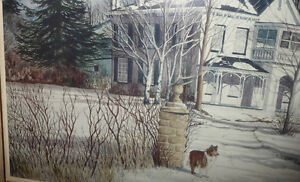 "Toronto Artist Roxann Vivian Smith ""The White House"" Watercolor Stratford Kitchener Area image 5"