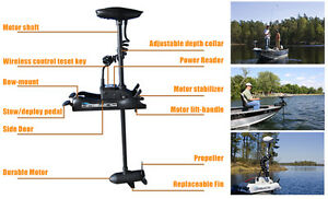 Bow mount trolling motor with wireless remote control 55 lb