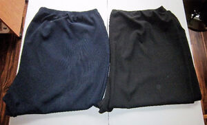 2 PAIR OF PANTS, SIZE 6X, INSEAM 26 INCHES & RED TOP 5XL