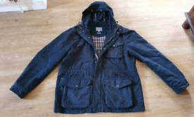 Fatface mens XL winter coat jacket navy Fat face excellent condition