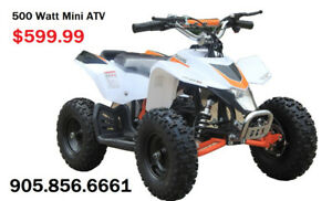 Kids Electric atvs on for $599.99! Call now 289.350.1017