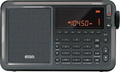 NEW ETON ELITE EXECUTIVE SATELLITE SHORTWAVE RADIO WITH CASE
