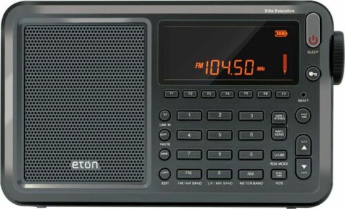 NEW ETON ELITE EXECUTIVE SATELLITE SHORTWAVE RADIO WITH CASE