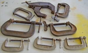 """Lot of """" C """" CLAMPS,as seen in pictures ."""